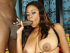 Tasha is a dirty MILF, and she likes taking a black penis deep inside her pussy.  That babe reveals her huge love melons that she uses to titty fuck Byrons long rod during the time that sucking him off.  That babe works his dick hard until this guy lays her down and throws her legs open, getting her ready to take his thick dick.  He pounds this horny girl from behind, shoving his hard dick inside of her nice and fast.  He pounds this chick until her pussy begins to shake and sends his cock over the edge until this guy busts a nut all over her tits.