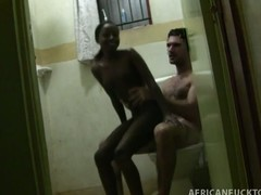 This voyeur-esque scene features Antonio picking up the latest in a long string of African amateur beauties. This chab is favourable sufficiently to go on business trips and explore the breadth of gorgeous amateurs on this continent. Tiny starts off by massaging him down and then that babe sits down on the toilet to start sucking his dick. She has no idea that a camera is right by the door of the bathroom, and that babe ends up getting cum all over her face, with the camera switching over to POV to capture that Kodak moment.