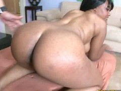 Ebony Beauty Lexi Doll Gets Her Pussy Fucked and Her Booty Jizzed On
