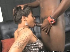 Black Amateur Ghetto Slattern Getting Her Throat Punished
