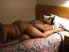 Fat swarthy couple in hot homemade porn